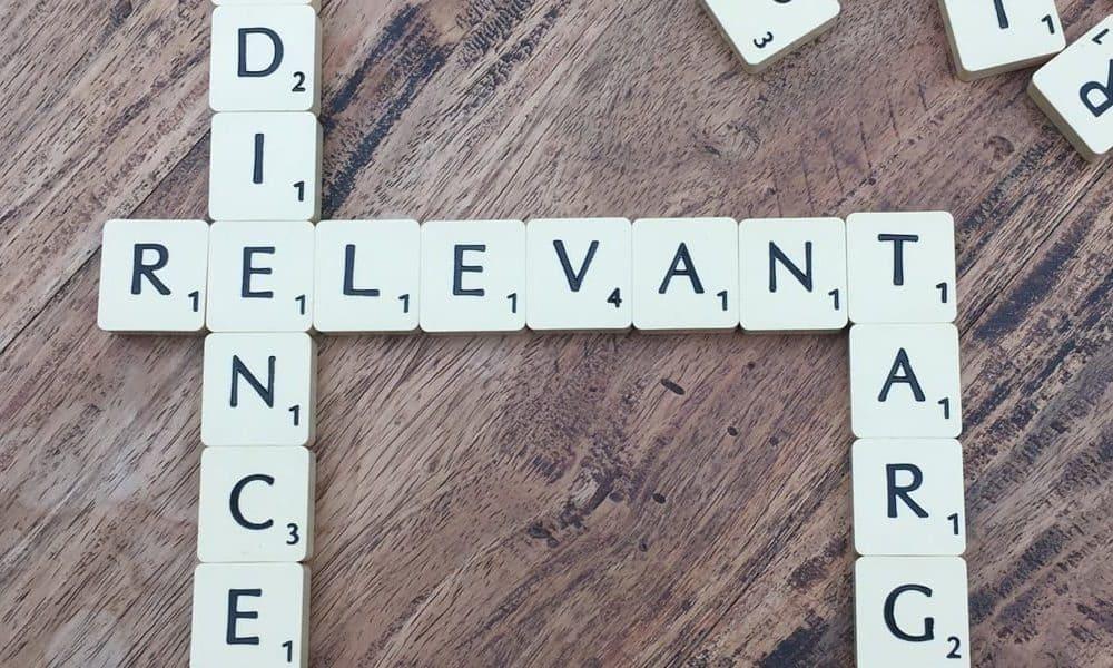 Scrabble tile spelling relevant